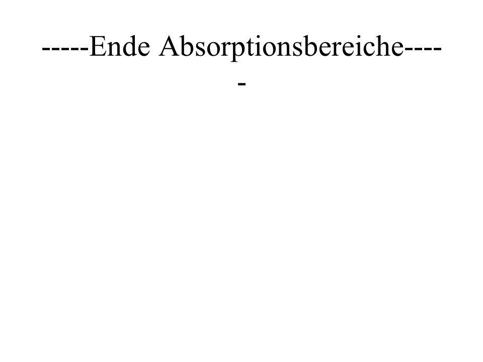 -----Ende Absorptionsbereiche---- -