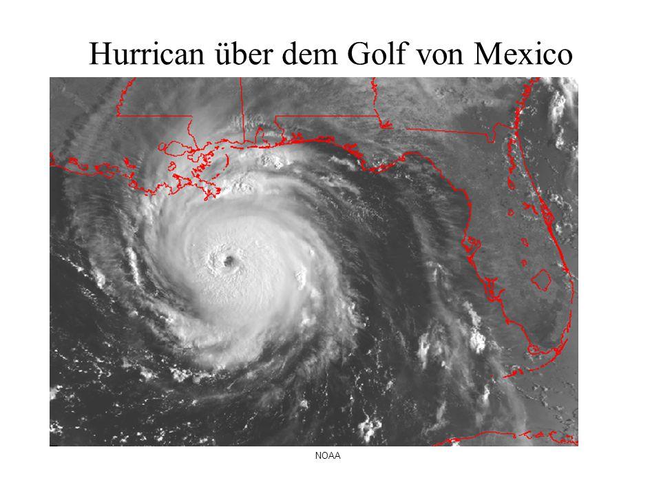 Hurrican über dem Golf von Mexico NOAA