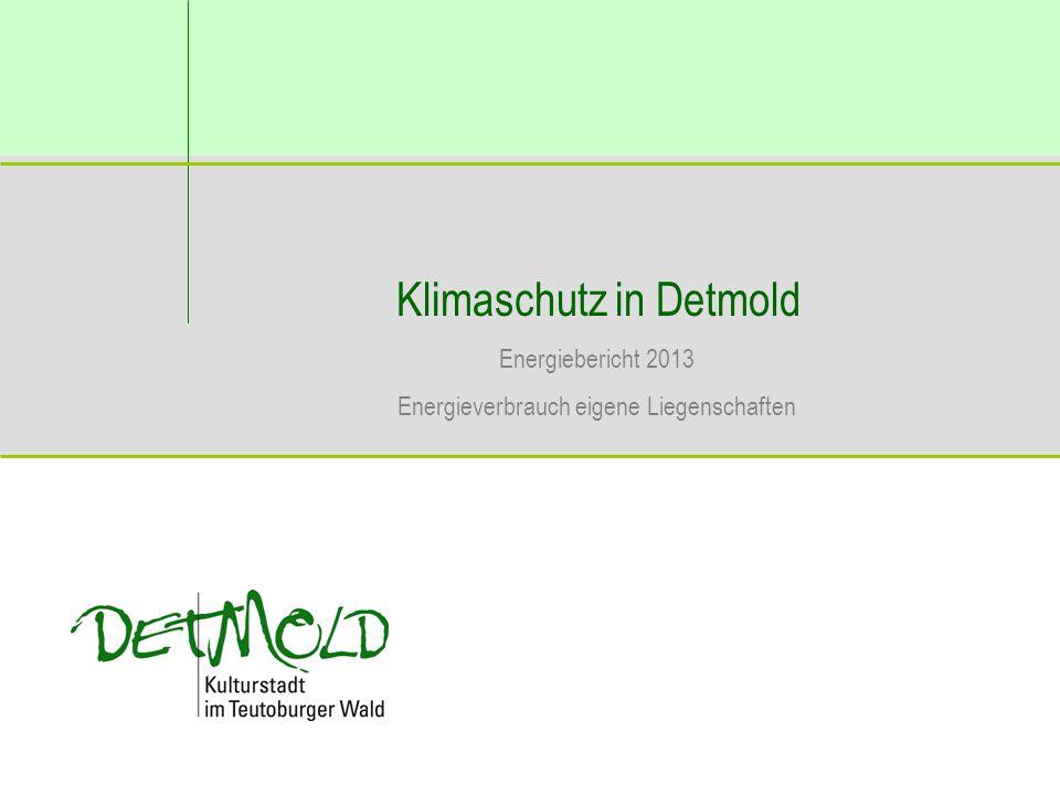 Klimaschutz in Detmold Energiebericht 2013 Energieverbrauch eigene Liegenschaften