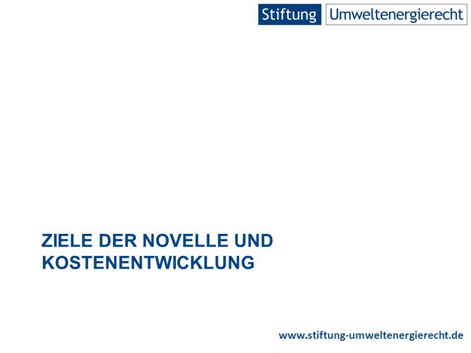www.stiftung-umweltenergierecht.de Grafik: BMWi Bagatellgrenzen der verpflichtenden Direktvermarktung 16