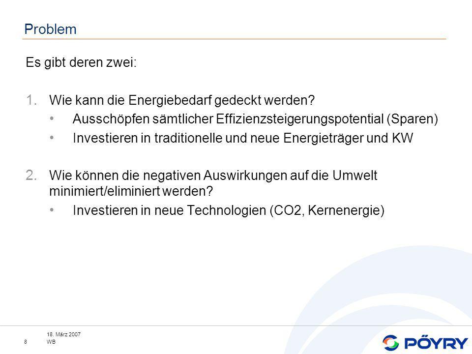 18.März 2007 WB9 Agenda Wie kann man im Privaten am meisten Energie sparen.