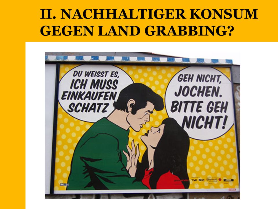 II. NACHHALTIGER KONSUM GEGEN LAND GRABBING?
