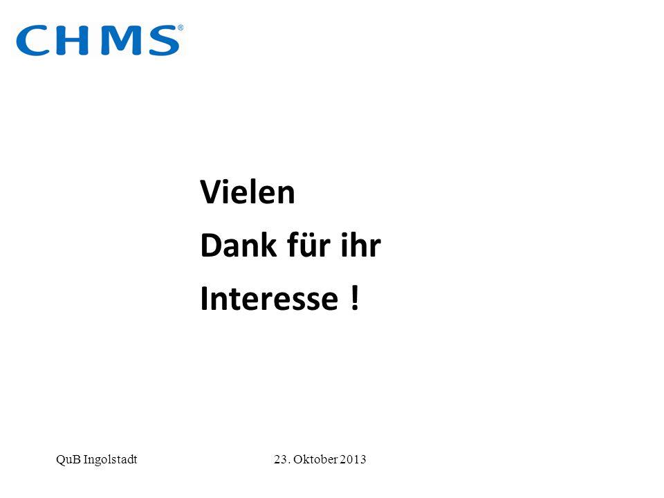 Vielen Dank für ihr Interesse ! QuB Ingolstadt 23. Oktober 2013