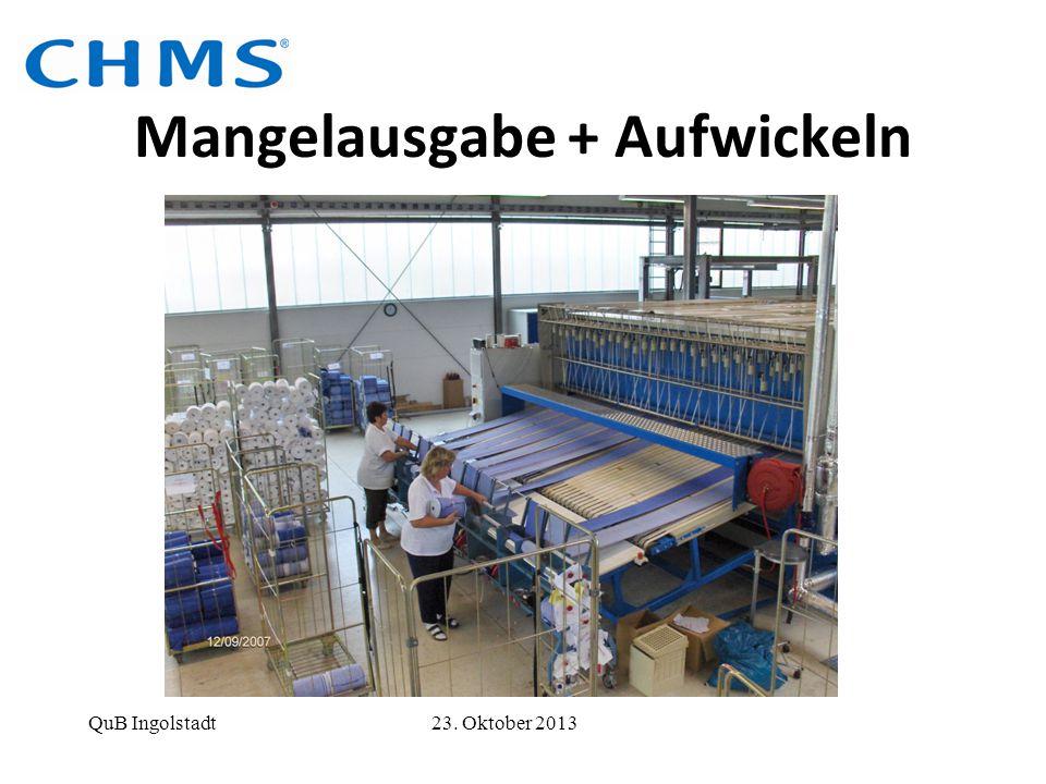 Mangelausgabe + Aufwickeln QuB Ingolstadt 23. Oktober 2013