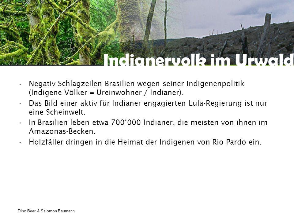 Dino Beer & Salomon Baumann Indianervolk im Urwald Negativ-Schlagzeilen Brasilien wegen seiner Indigenenpolitik (Indigene Völker = Ureinwohner / Indianer).