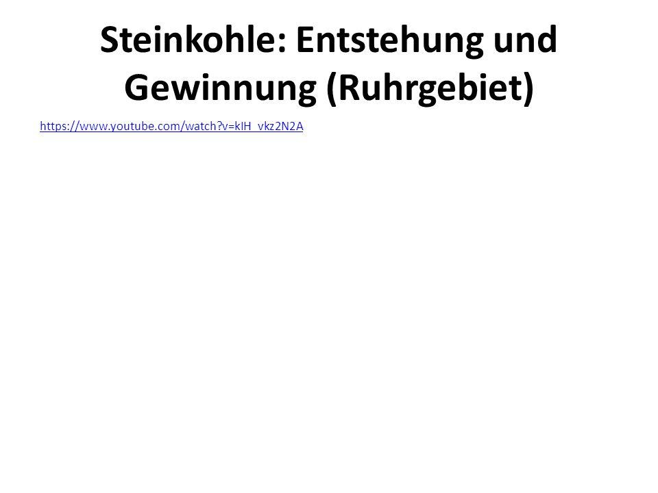 Steinkohle: Entstehung und Gewinnung (Ruhrgebiet) https://www.youtube.com/watch?v=kIH_vkz2N2A