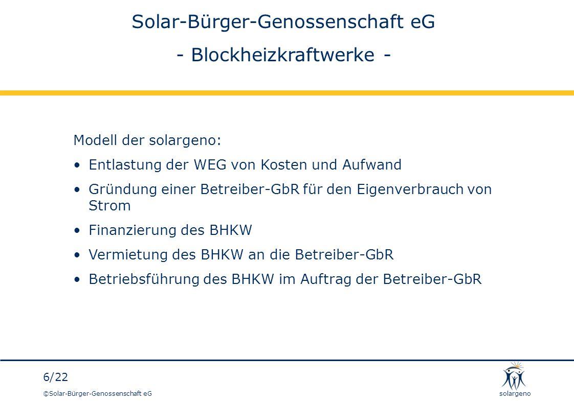 ©Solar-Bürger-Genossenschaft eG 17/22 solargeno So siehts aus