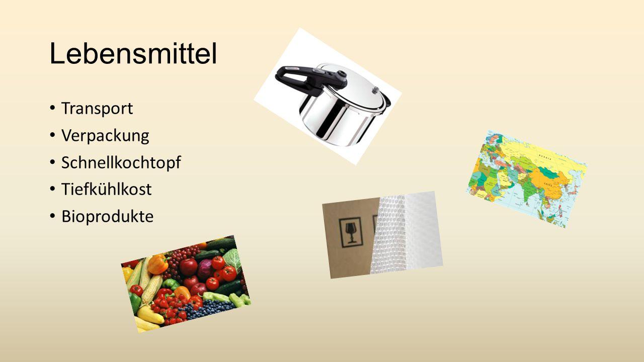 Lebensmittel Transport Verpackung Schnellkochtopf Tiefkühlkost Bioprodukte