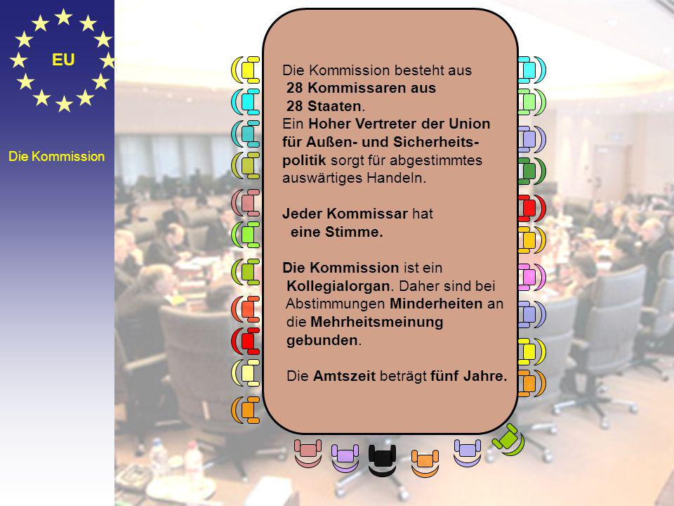 © Stefan Mayer / EK 2010 EU Die Kommission Die Kommission besteht aus 28 Kommissaren aus 28 Staaten.