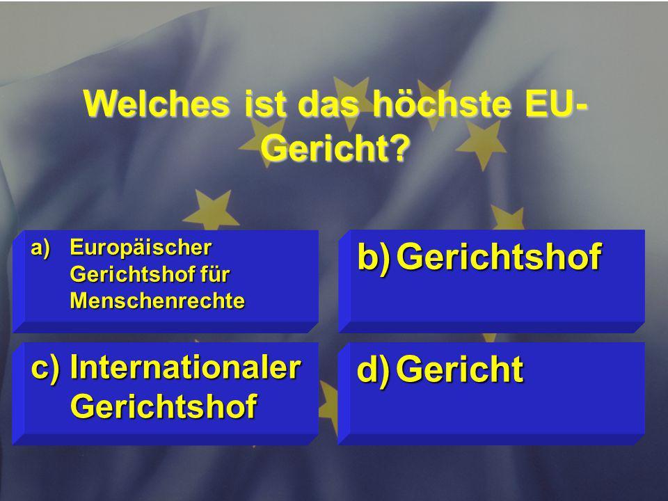 © Stefan Mayer / EK 2010 Welches ist das höchste EU- Gericht.
