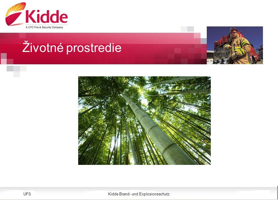 Kidde Brand- und ExplosionsschutzUFS Bild einfügen Höhe: 3,45 cm (Größe) Position vertikal: 2,4 cm Životné prostredie