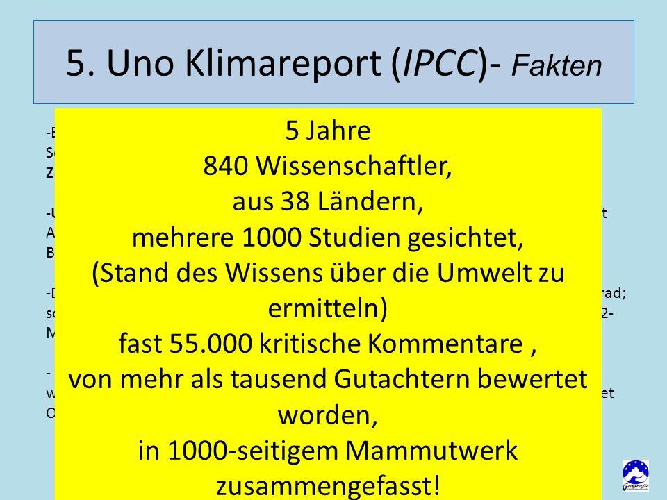 5. Uno Klimareport (IPCC)- Fakten -Beginn 20.