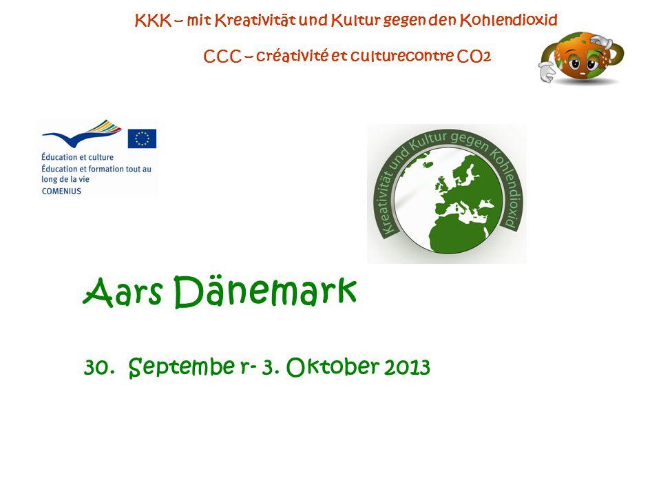 KKK – mit Kreativität und Kultur gegen den Kohlendioxid CCC – créativité et culturecontre CO2 Aars Dänemark 30.
