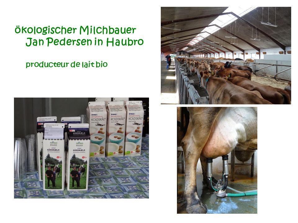 ökologischer Milchbauer Jan Pedersen in Haubro producteur de lait bio