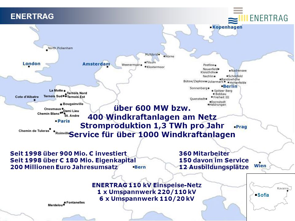 21.04.20092 ENERTRAG Seit 1998 über 900 Mio.€ investiert Seit 1998 über € 180 Mio.