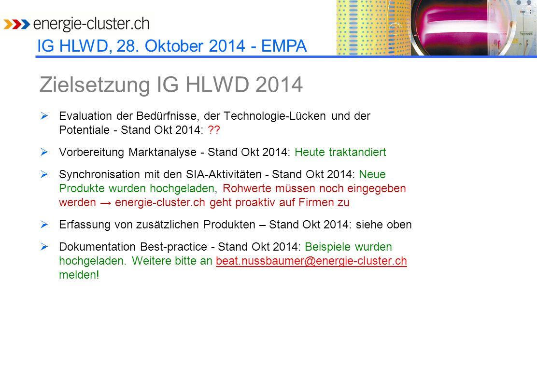 IG HLWD, 28.Oktober 2014 - EMPA Einsatz  Unterscheidung zwischen 'Fassade' und Rest.