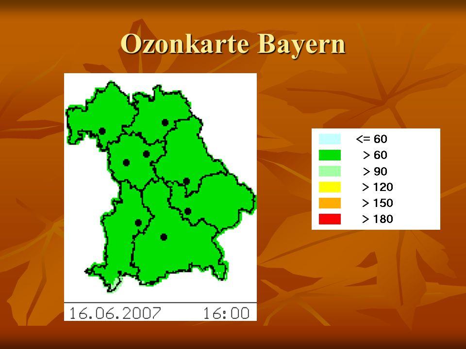Ozonkarte Bayern