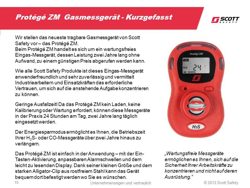 Protégé ZM Gasmessgerät - Kurzgefasst Wir stellen das neueste tragbare Gasmessgerät von Scott Safety vor – das Protégé ZM. Beim Protégé ZM handelt es