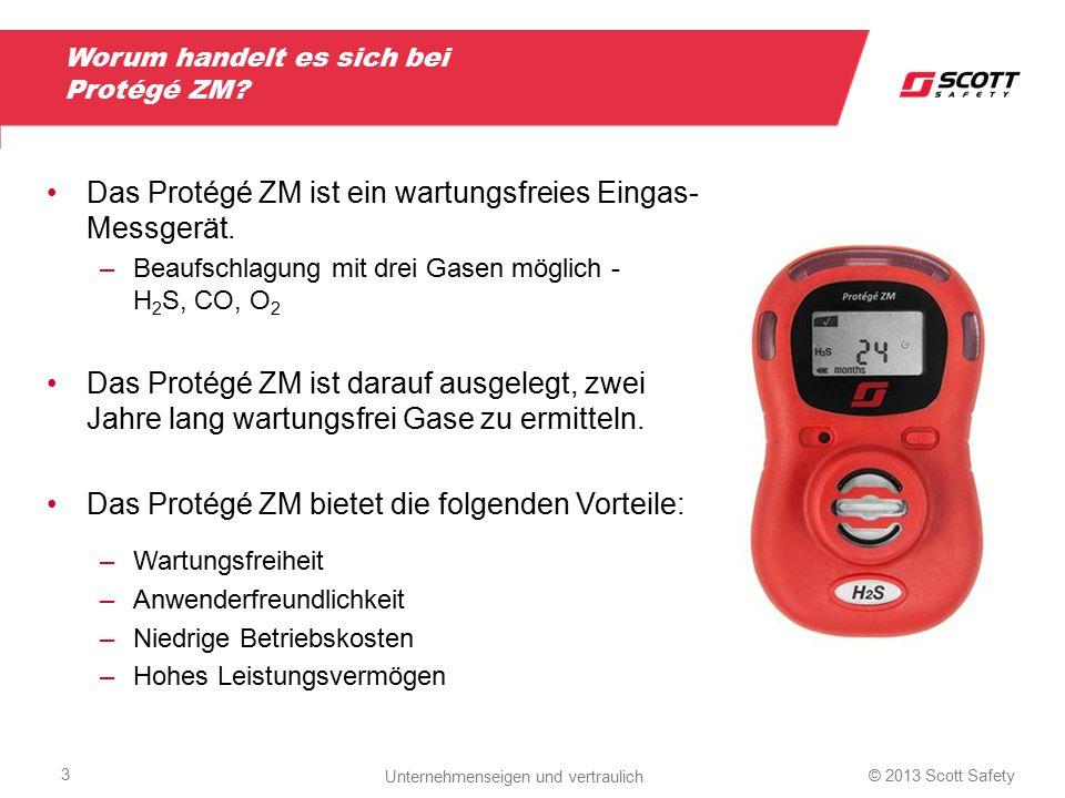Worum handelt es sich bei Protégé ZM? Das Protégé ZM ist ein wartungsfreies Eingas- Messgerät. –Beaufschlagung mit drei Gasen möglich - H 2 S, CO, O 2