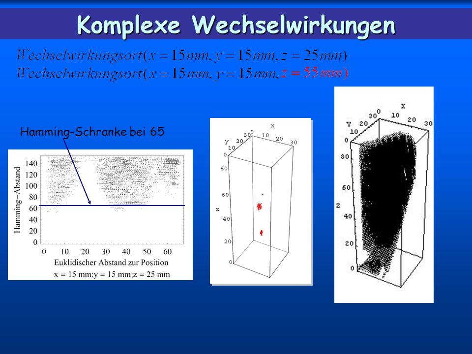 Hamming-Schranke bei 65 Komplexe Wechselwirkungen