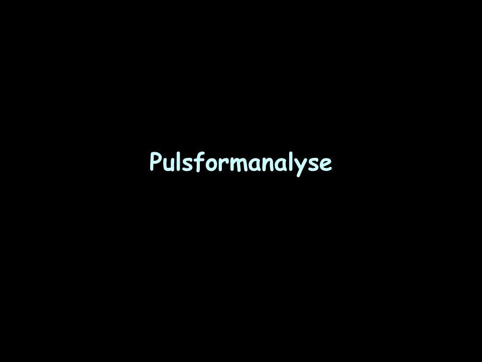 Pulsformanalyse