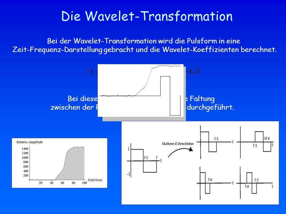 Die Wavelet-Transformation Bei der Wavelet-Transformation wird die Pulsform in eine Zeit-Frequenz-Darstellung gebracht und die Wavelet-Koeffizienten berechnet.