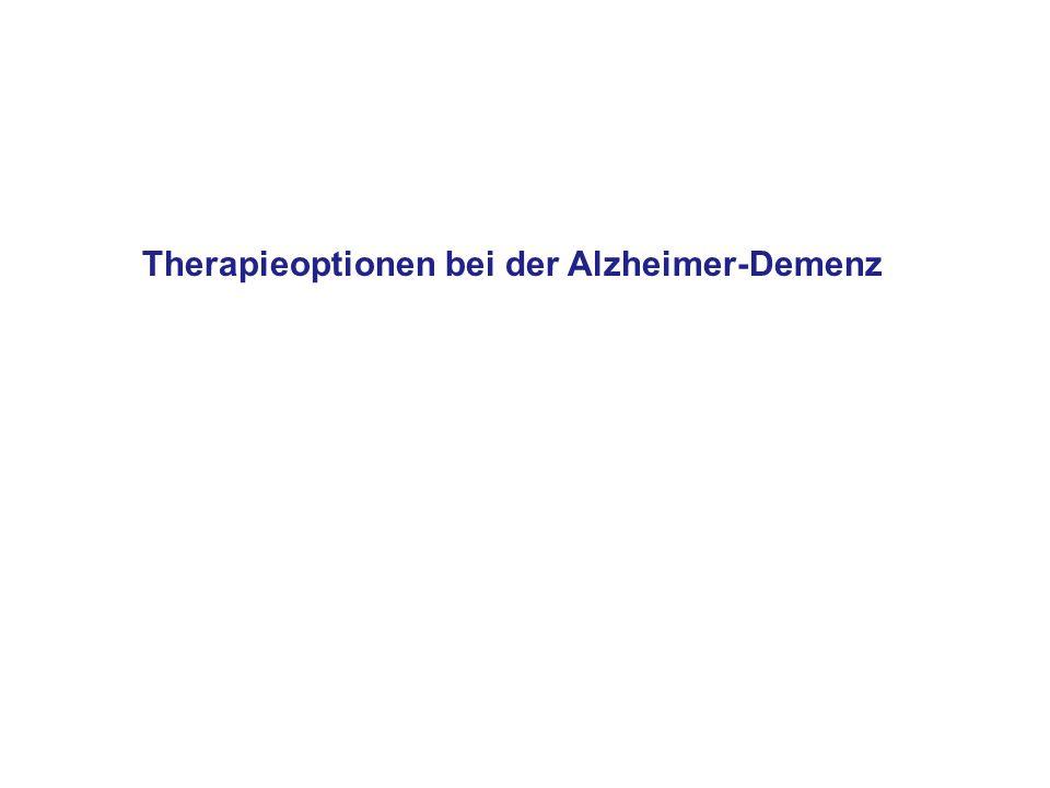 Therapieoptionen bei der Alzheimer-Demenz