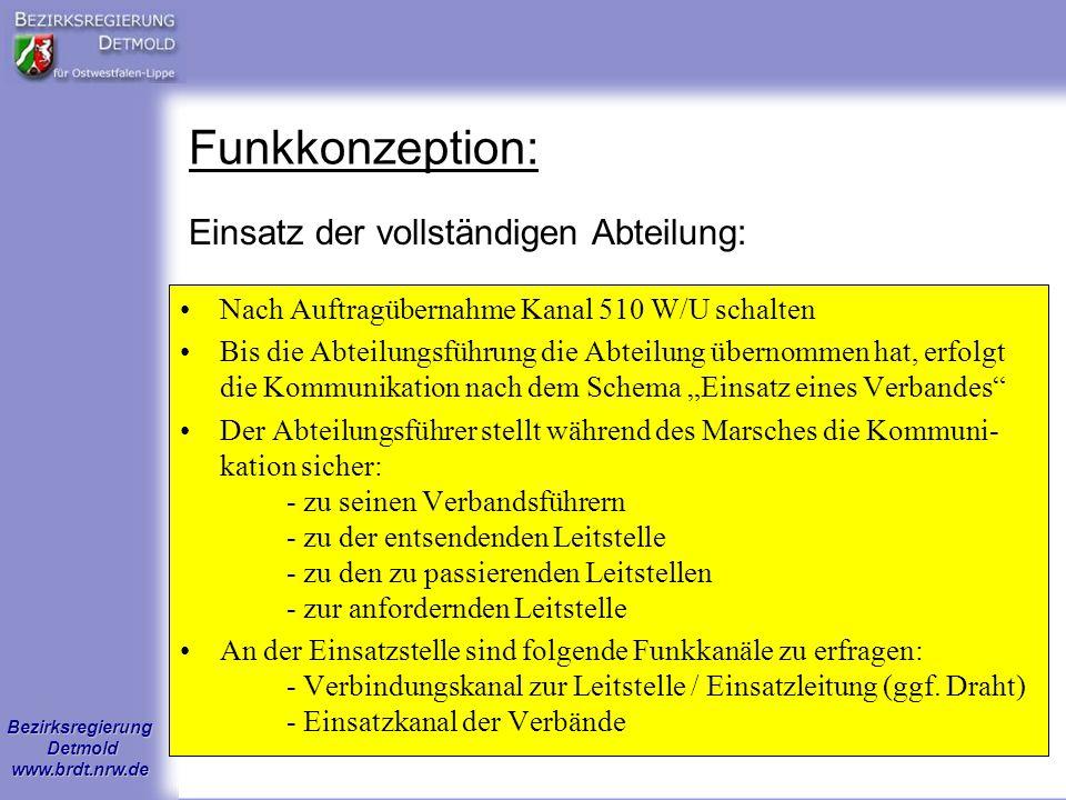 Bezirksregierung Detmold www.brdt.nrw.de Sonstige Hinweise: Verbandsintern ist sicherzustellen, dass die Grundversorgung (z.B.