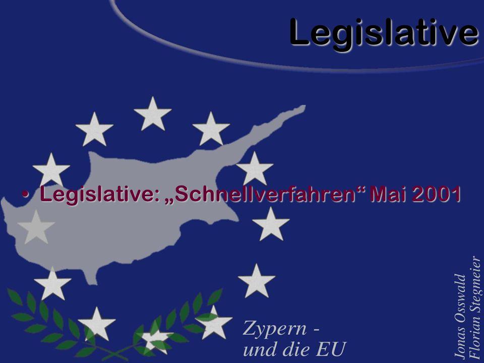 """Legislative Legislative: """"Schnellverfahren"""" Mai 2001Legislative: """"Schnellverfahren"""" Mai 2001"""