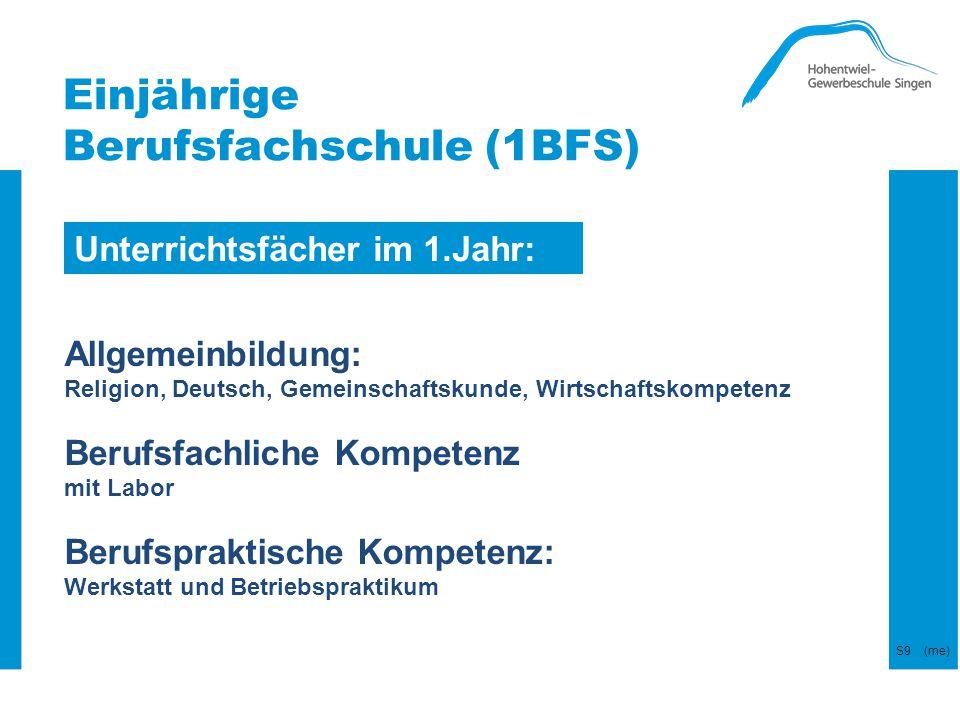 Unterrichtsfächer im 1.Jahr: Allgemeinbildung: Religion, Deutsch, Gemeinschaftskunde, Wirtschaftskompetenz Berufsfachliche Kompetenz mit Labor Berufsp