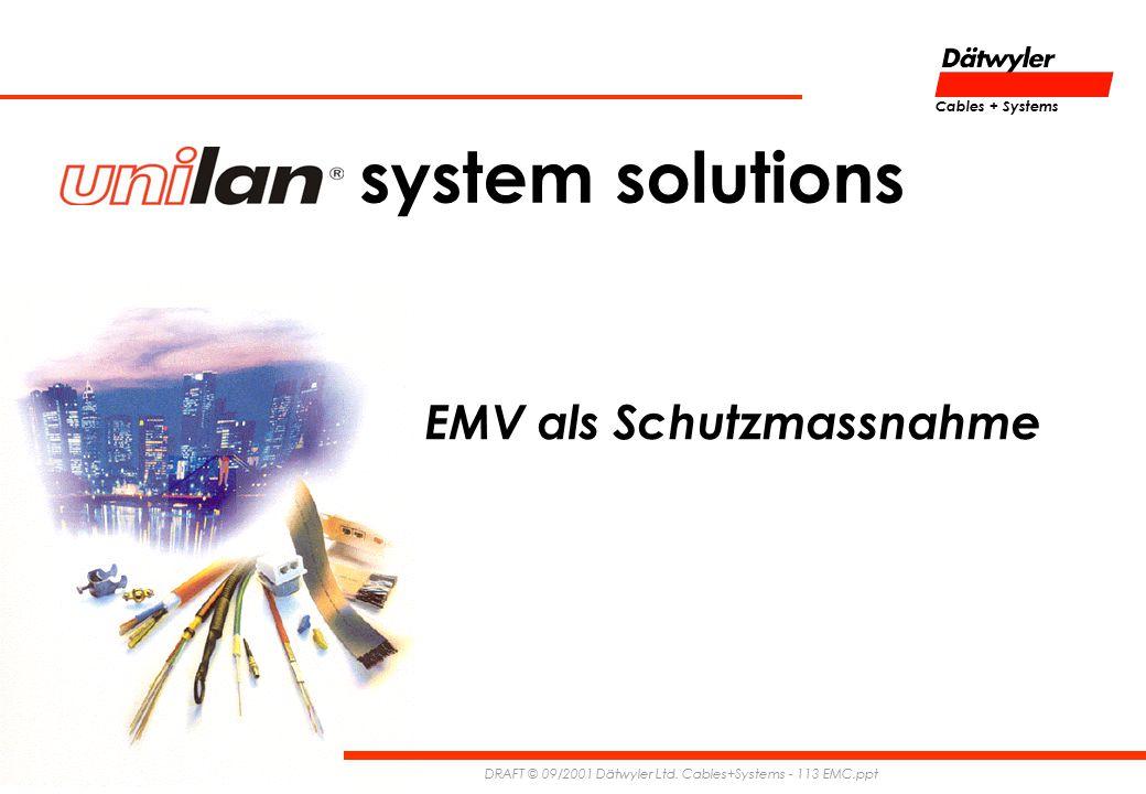 EMV als Schutzmassnahme DRAFT © 09/2001 Dätwyler Ltd.