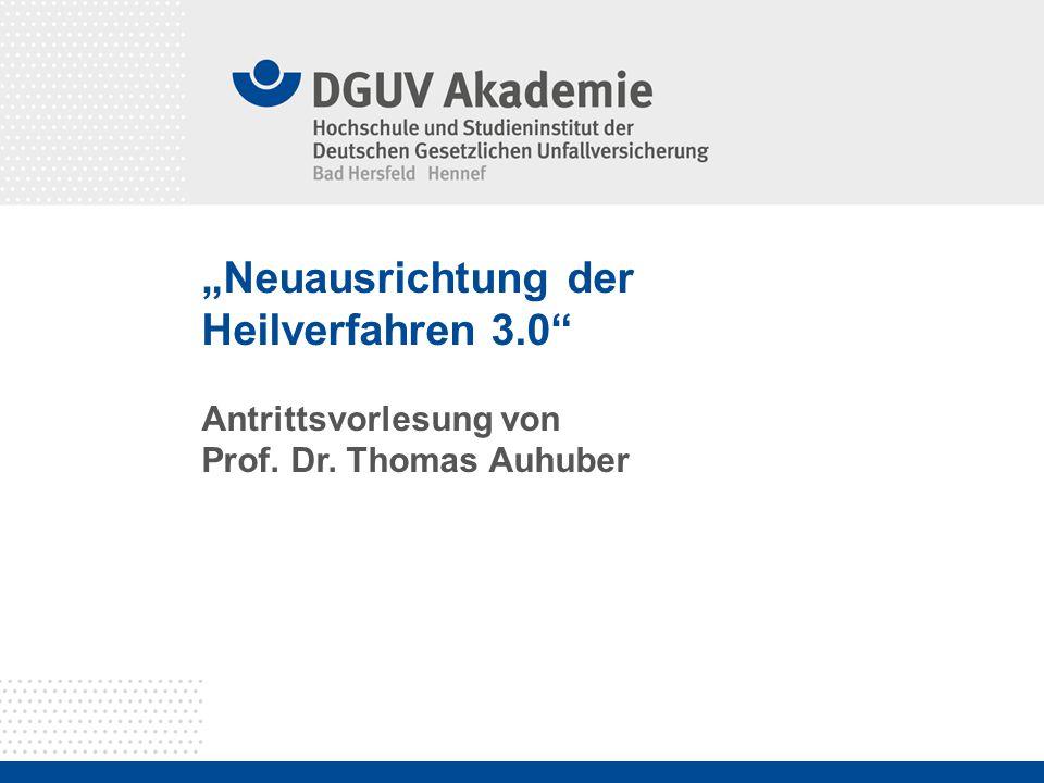 """""""Neuausrichtung der Heilverfahren 3.0"""" Antrittsvorlesung von Prof. Dr. Thomas Auhuber"""