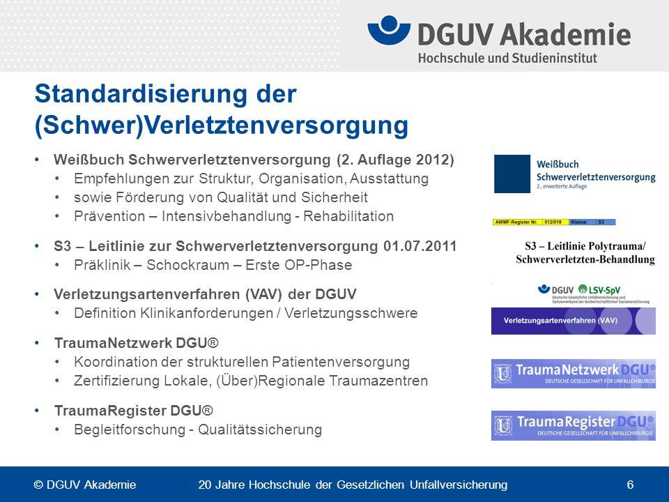 Standardisierung der (Schwer)Verletztenversorgung Weißbuch Schwerverletztenversorgung (2. Auflage 2012) Empfehlungen zur Struktur, Organisation, Ausst