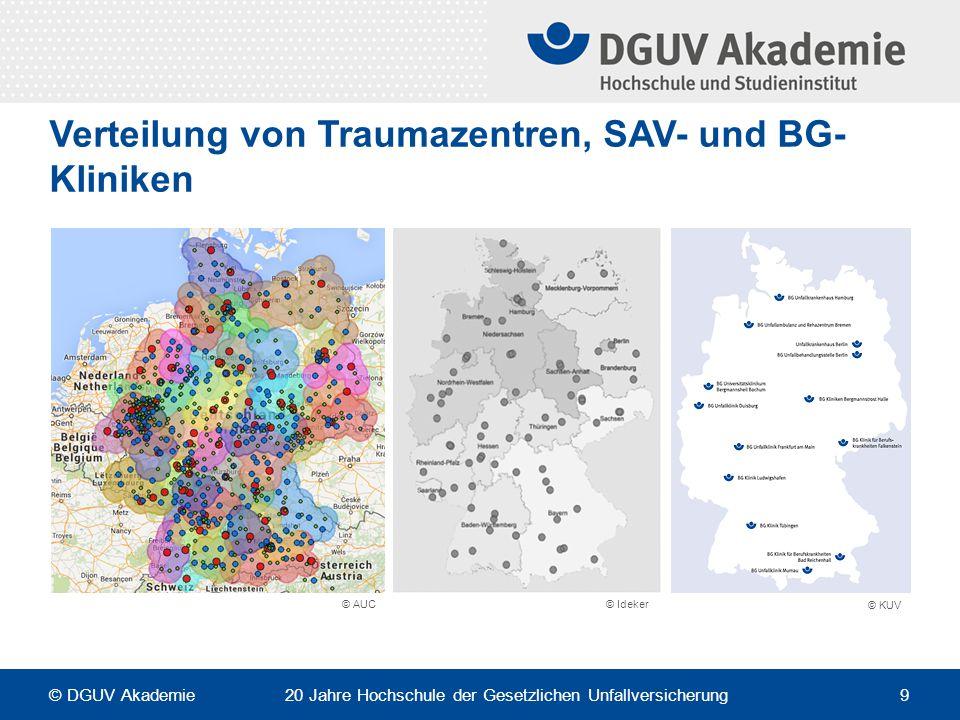 Heterogenität der realen Krankenhausstruktur Wie viele SAV- / VAV-Kliniken gibt es am Ende der Umstrukturierung.