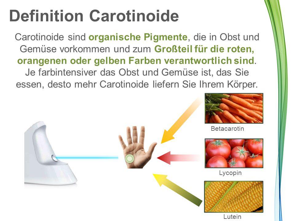 Definition Carotinoide Carotinoide sind organische Pigmente, die in Obst und Gemüse vorkommen und zum Großteil für die roten, orangenen oder gelben Fa