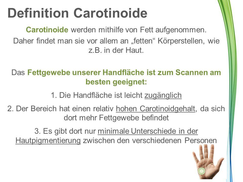 """Carotinoide werden mithilfe von Fett aufgenommen. Daher findet man sie vor allem an """"fetten"""" Körperstellen, wie z.B. in der Haut. Das Fettgewebe unser"""