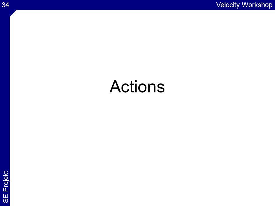 Velocity Workshop SE Projekt 34 Actions