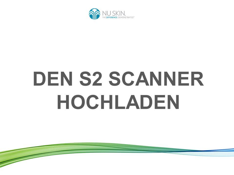 Ihren Scanner hochladen heißt: Die Daten Ihrer durchgeführten Scans werden von Ihrem Scanner an den weltweiten Nu Skin Server gesendet.
