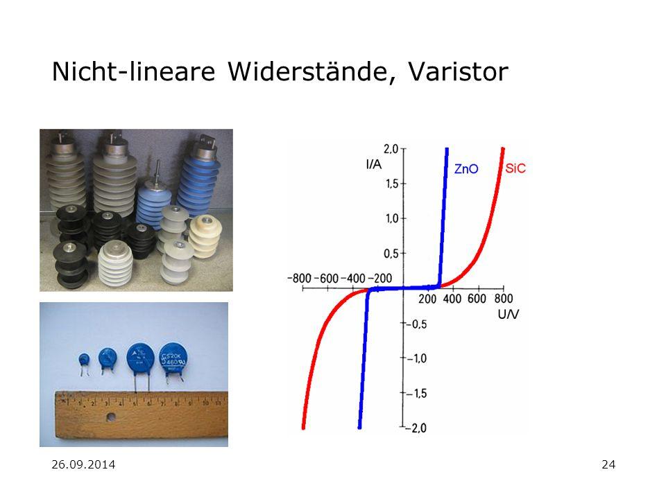 26.09.201424 Nicht-lineare Widerstände, Varistor