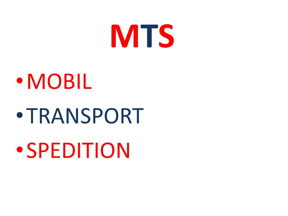 MTSMTS MOBIL TRANSPORT SPEDITION