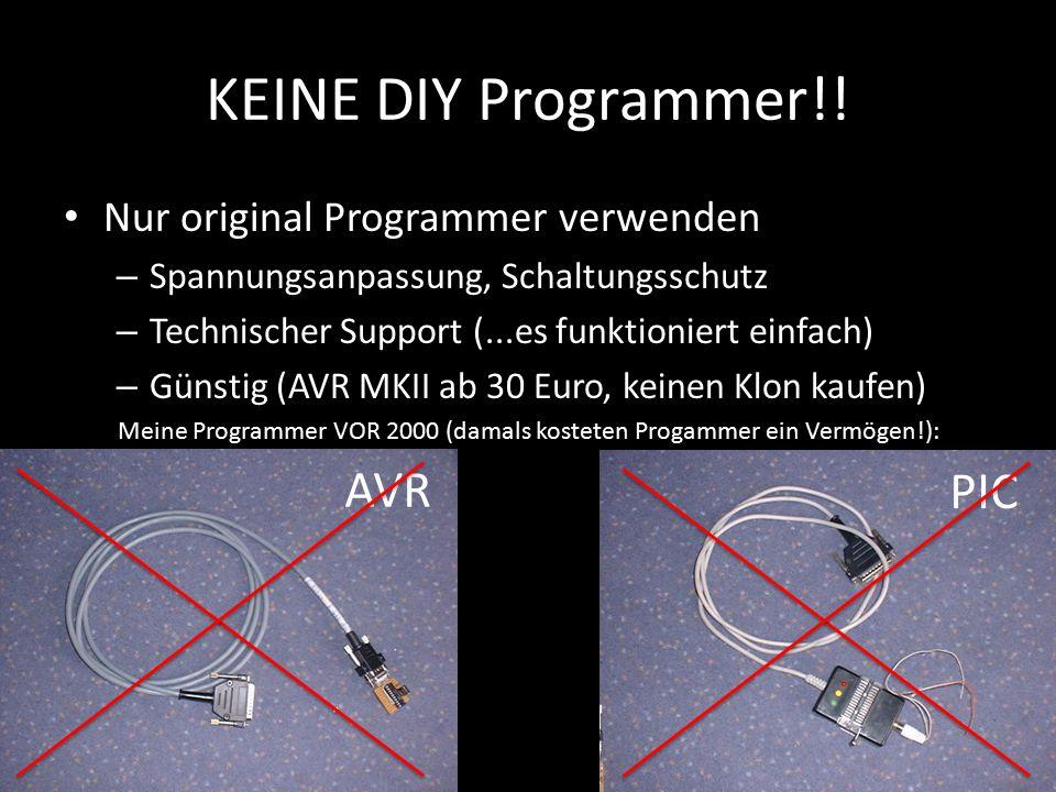 KEINE DIY Programmer!! Nur original Programmer verwenden – Spannungsanpassung, Schaltungsschutz – Technischer Support (...es funktioniert einfach) – G