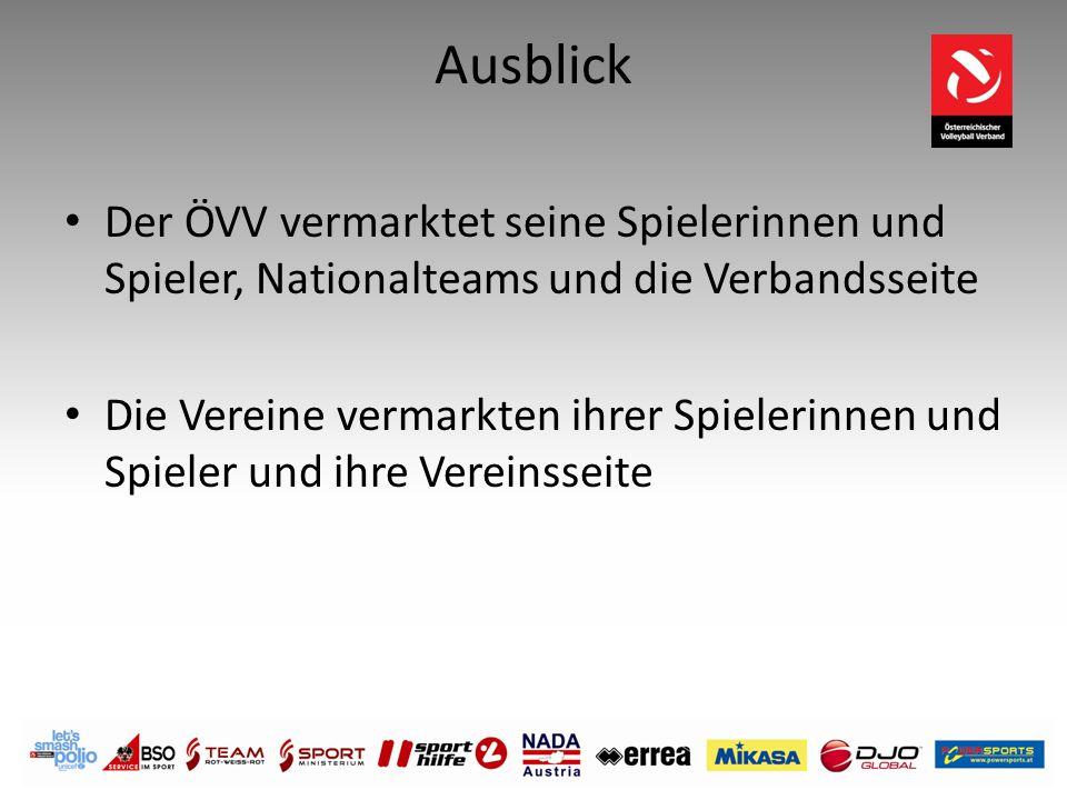 Ausblick Der ÖVV vermarktet seine Spielerinnen und Spieler, Nationalteams und die Verbandsseite Die Vereine vermarkten ihrer Spielerinnen und Spieler