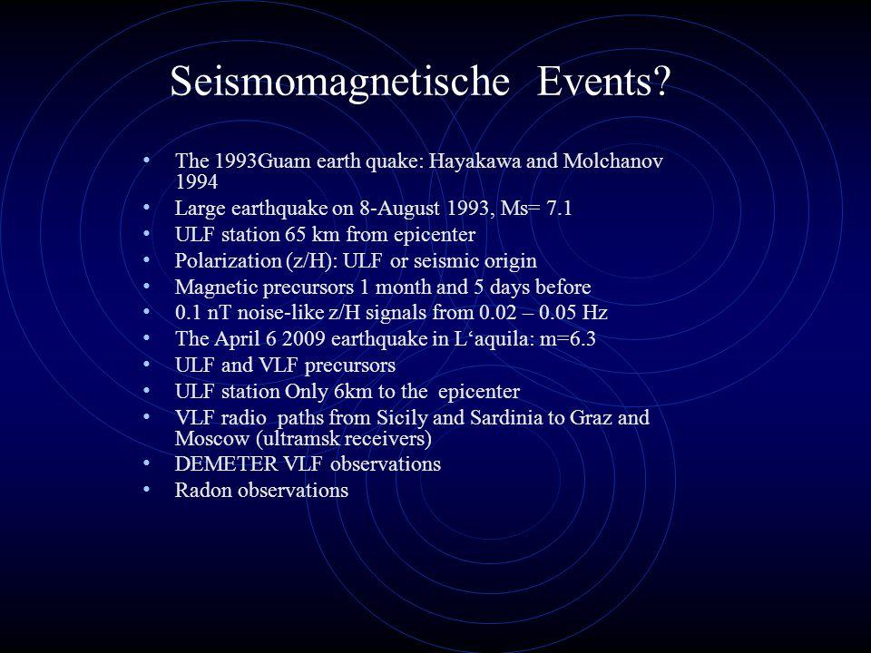 Seismomagnetische Events.