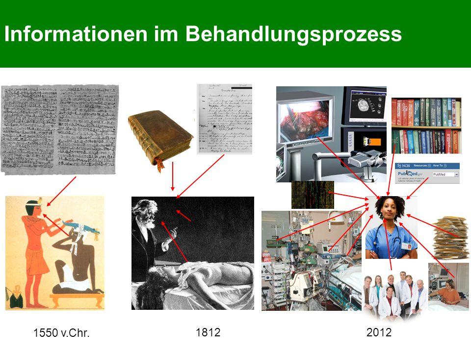 Informationen im Behandlungsprozess 1812 2012 1550 v.Chr.