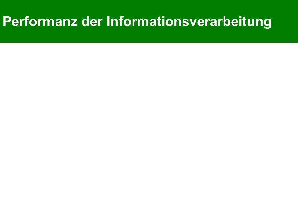 Performanz der Informationsverarbeitung