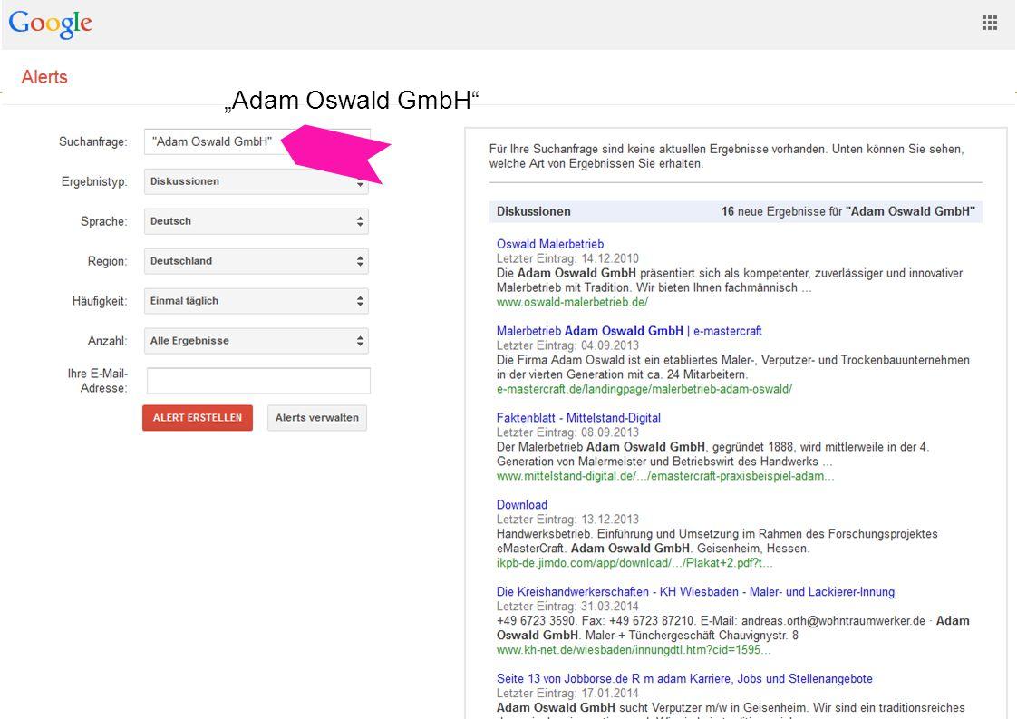 "eBusiness-Lotse Mainfranken Websitegestaltung und -usability 18 ""Adam Oswald GmbH"""