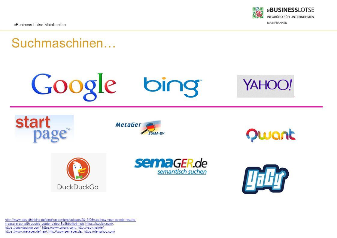 eBusiness-Lotse Mainfranken Wie funktioniert eine Suchmaschine.