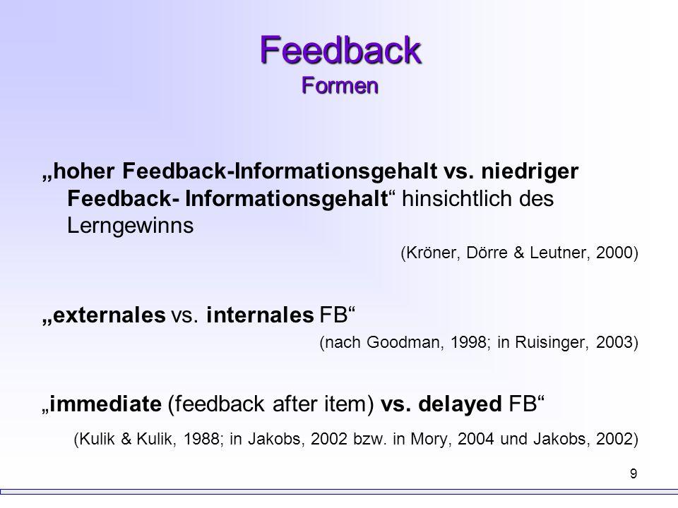 20 Ergebnisse (Krause et al., in press) In FB Intervention höhere Werte im Posttest, d.h.