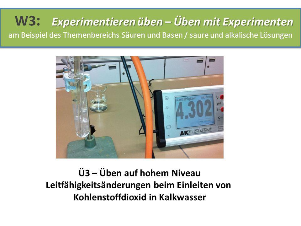 Ü3 – Üben auf hohem Niveau Leitfähigkeitsänderungen beim Einleiten von Kohlenstoffdioxid in Kalkwasser
