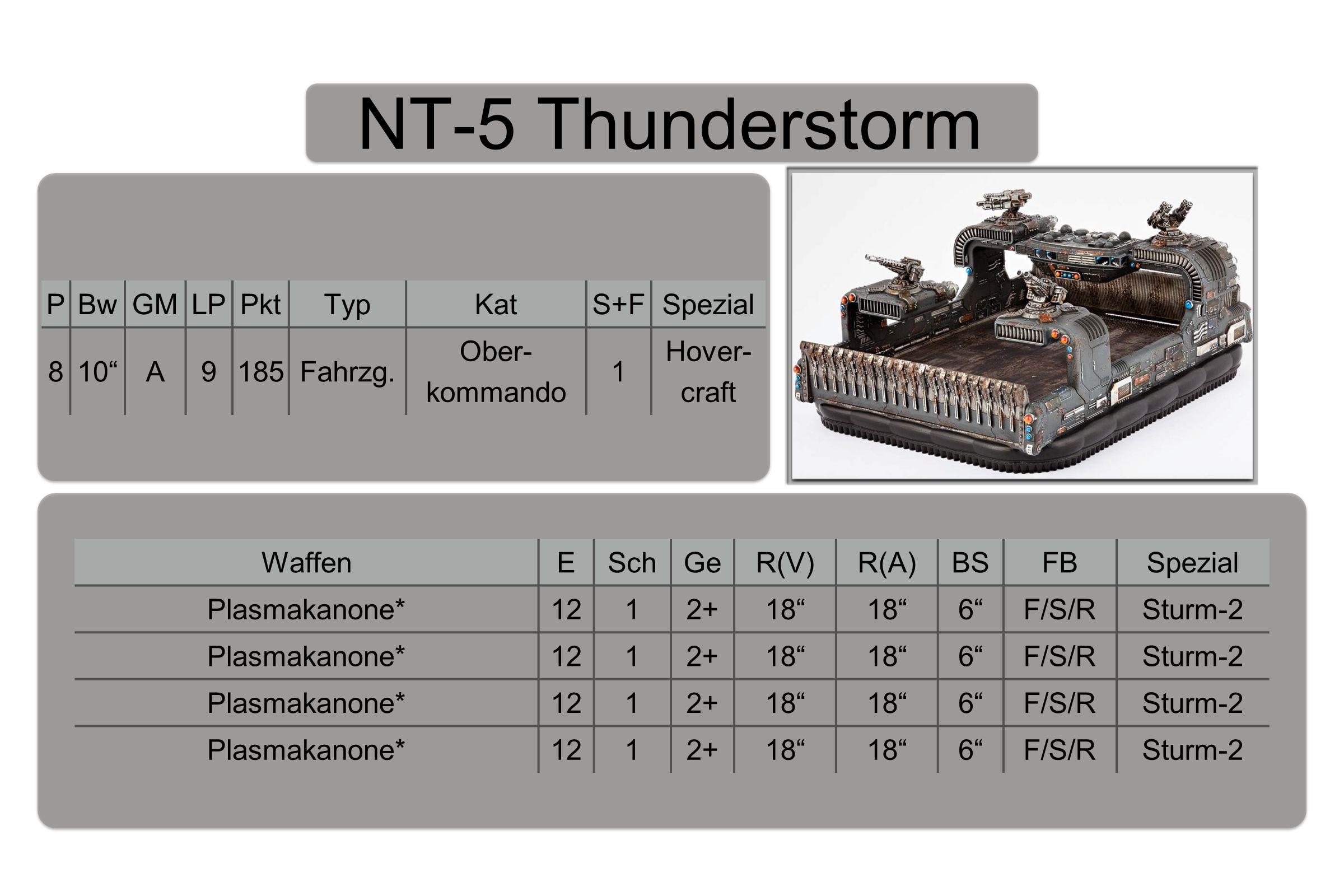 NT-5 Thunderstorm PBwGMLPPktTypKatS+FSpezial 810 A9185Fahrzg.